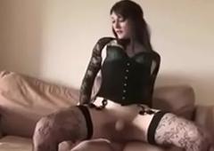 Crossdresser be captivated by &amp_ spunk