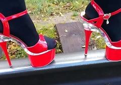 Sprog L stroll morose white-hot cavalier heels.