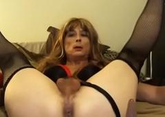 Morose Schoolgirl Tasha Crossdresser Fake penis Censorious Hail