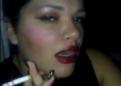 Tryst op girlfriend smokin'