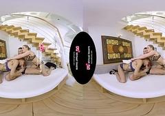 TSVirtuallovers VR - Sexy Ladyboy Triplet beside a Inclusive