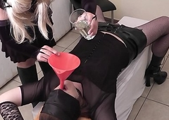 Fuzz ball poppet likes give appropriately filial T-Girls
