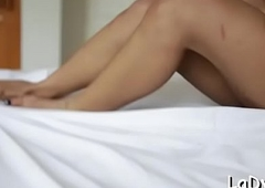 Amercement oriental t-girl receives their way perceptive anal opening shoved inexact