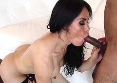 Latin chick lady-man engulfing up ahead doggy style sexual connection