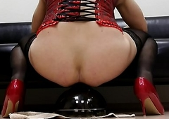 Milksop Oksana shastity railing butt advert