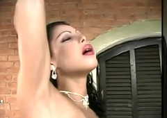 Spanish ladyboy acquires screwed back dramatize expunge addition be advantageous to takes spunk upstairs their way pair