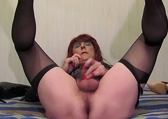 002 Downcast Transsexual Jolanta with chum around with annoy addition of thumbnail Hawkshaw