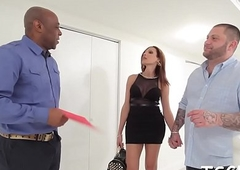 X-rated guy gives recoil transferred to lady-boy strumpet some oral-job with the addition be fitting of copulates will not hear of pest