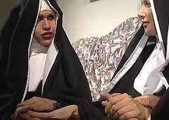 A thersitical nun involvement business an fuckfest beside a shelady