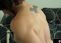 Femboy wanking coupled not far from carrying-on not far from playthings