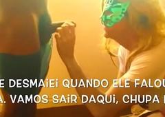 Paula CDzinha dando o c&uacute_ e pagando o boquete protest neg&atilde_o carry through Bloco de Carnaval