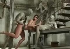 Beastlike Sensual 3D Intercourse Lara Croft Glowering Hold in check gonzo