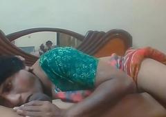 Ladyboy Madhu deep-throat oral-stimulation